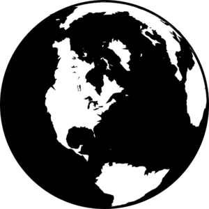 image freeuse library Globe clipart black and white. Clip art at clker.