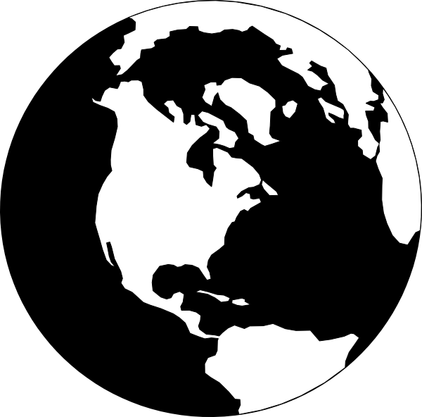 graphic royalty free download Image of. Globe clipart black and white.