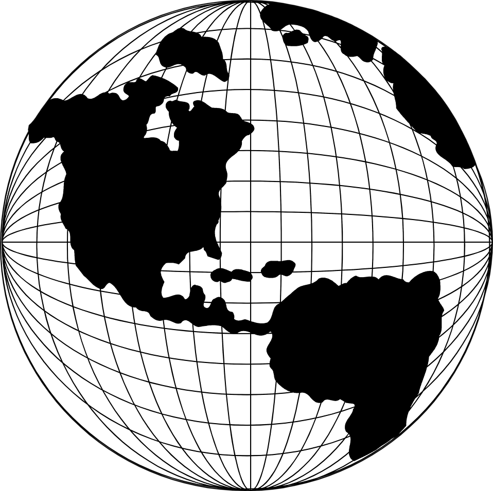 image free stock Globe clipart black and white. Image of.