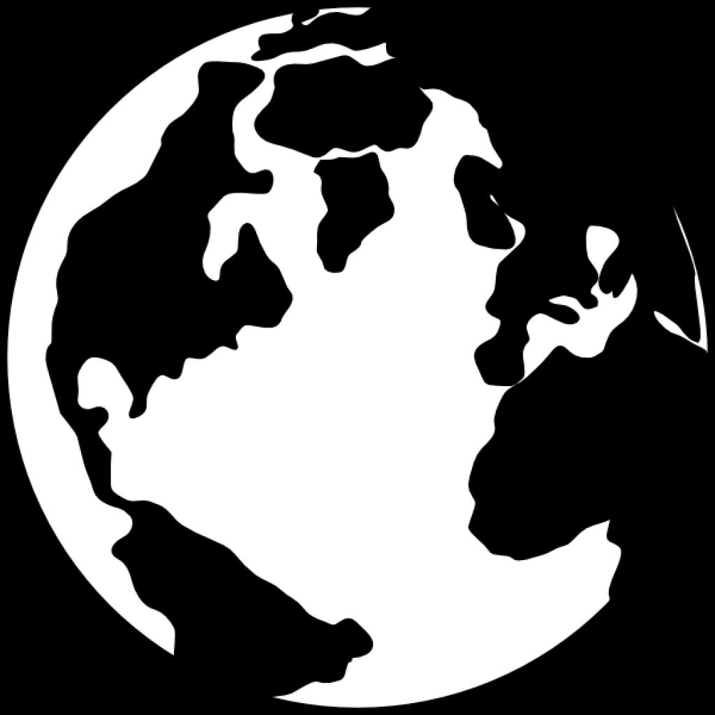 clip freeuse download Globe clipart black and white. Earth dinosaur hatenylo com.