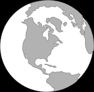 clip art library World Grey Logo Clip Art at Clker