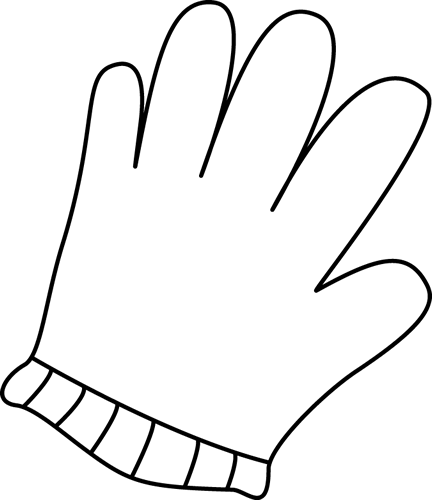 jpg download Glove clipart. Black and white free.