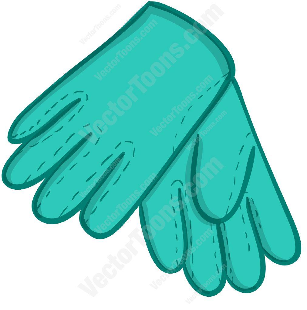 picture transparent stock Glove clipart cartoon. Blue gardening gloves clip