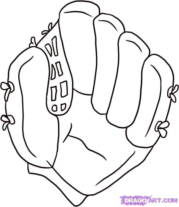banner stock How to Draw a Baseball Glove