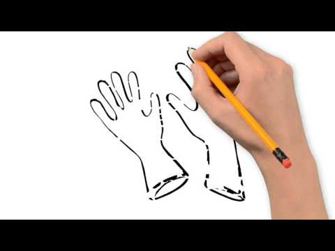 vector black and white library mittens and gloves things pencil to draw step by step
