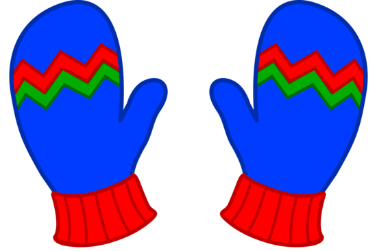 png library download Gloves clipart. Kids blue winter mittens