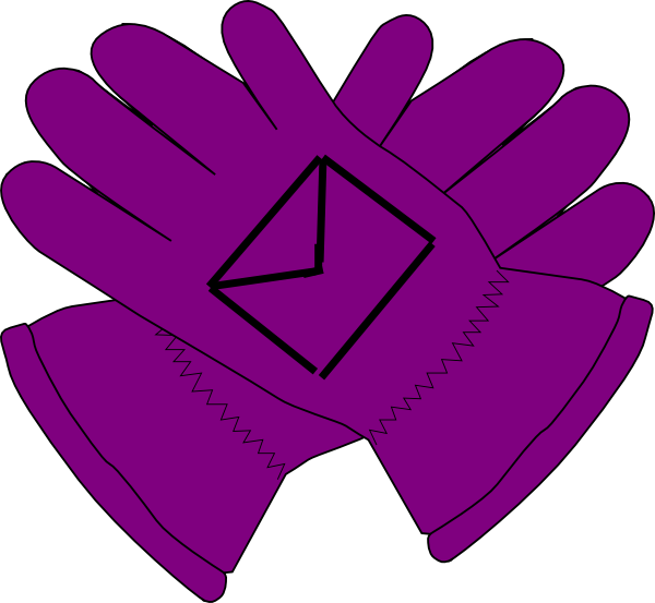 svg transparent library Purple envelope clip art. Gloves clipart
