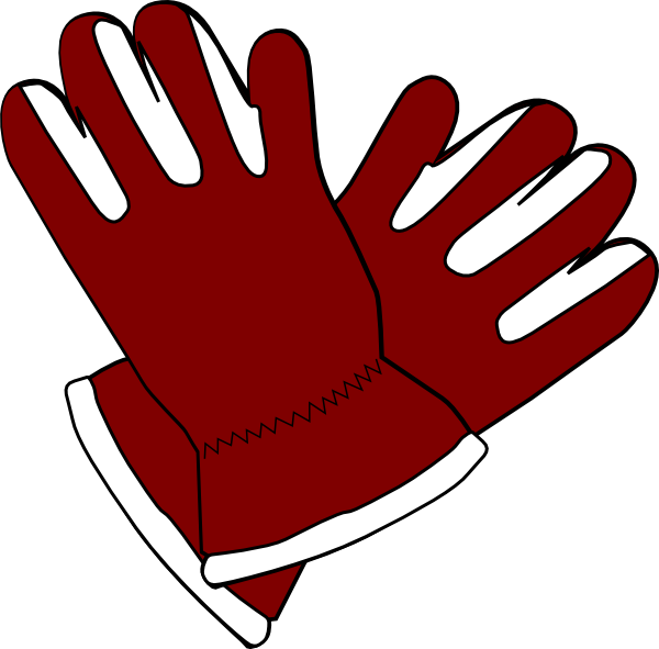 clipart transparent Red clip art at. Gloves clipart snow glove.