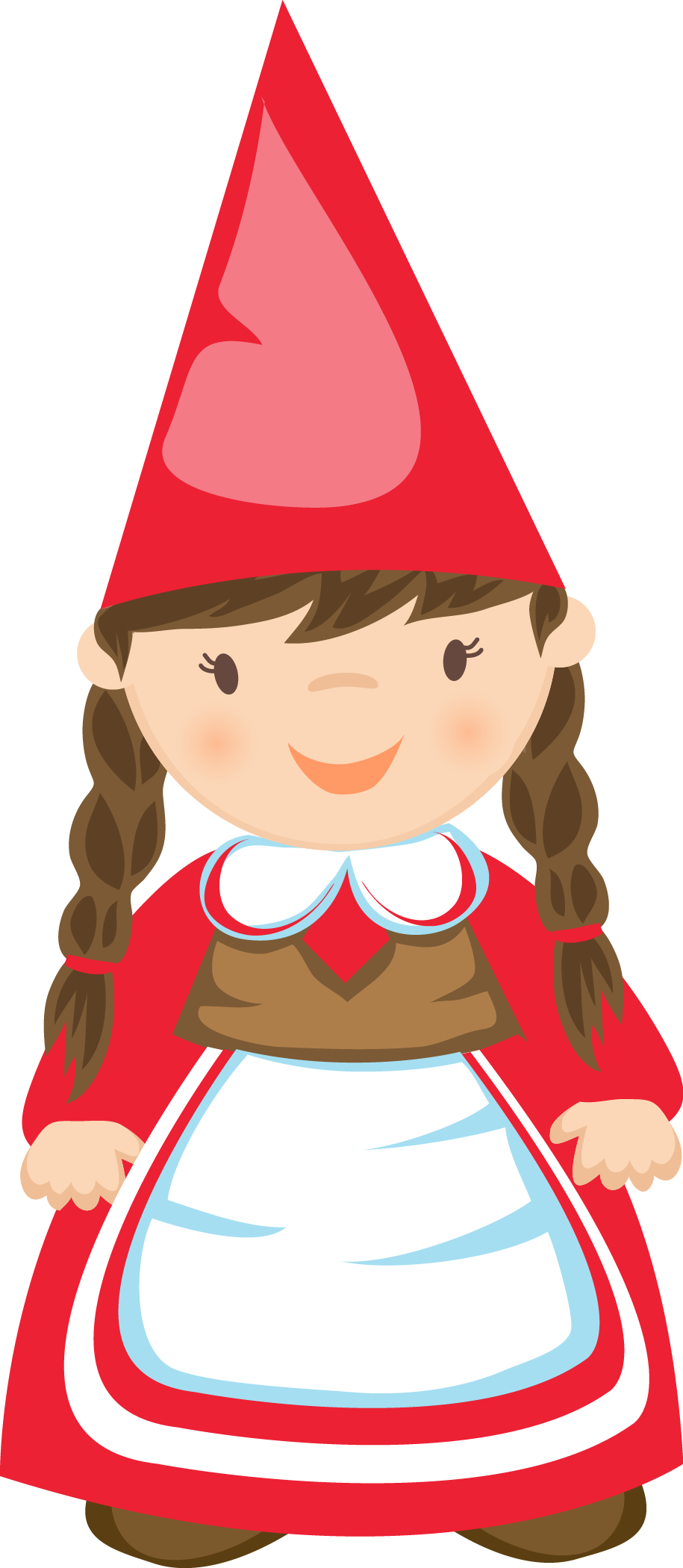 picture library library Gnome clipart. Girl clip art gnomes