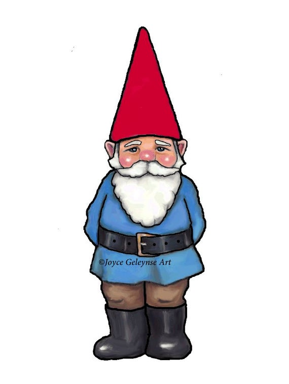 vector free library Gnome clipart. Hand drawn commercial use.
