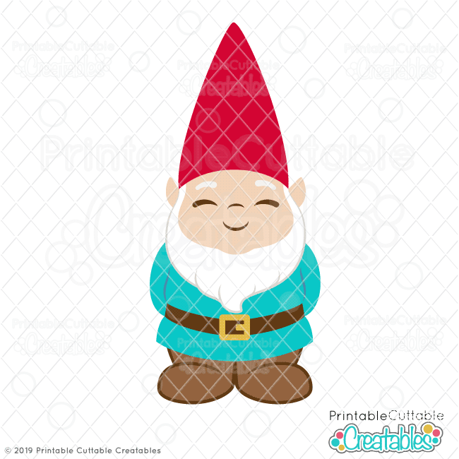 image black and white stock Gnome clipart. Cute garden svg file.