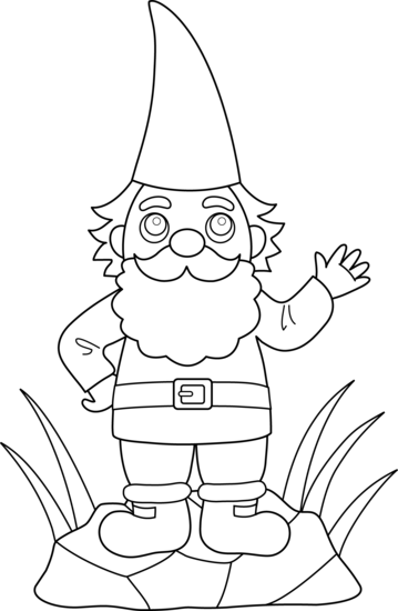 png freeuse stock Gnome clipart black and white. Pencil in color