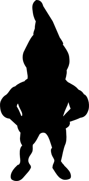 graphic transparent Silhouette clip art at. Gnome clipart black and white