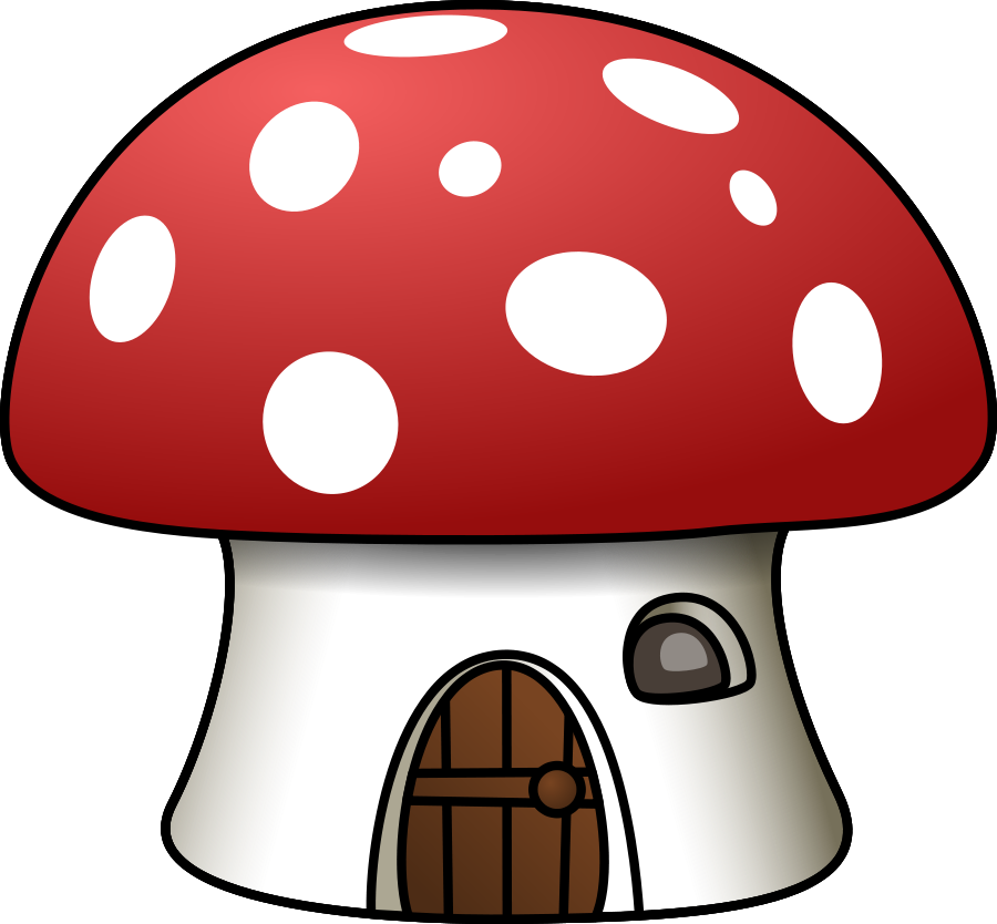 graphic freeuse download Mushroom House Clipart