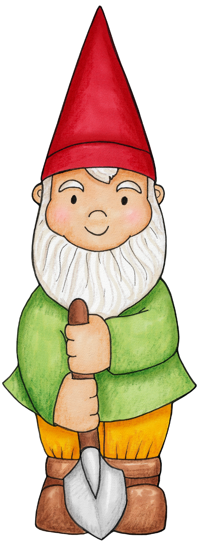 picture royalty free download Little boy for a. Gnome clipart enchanted