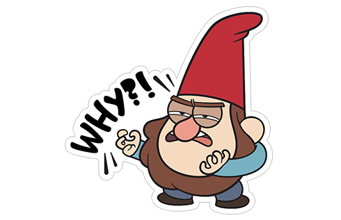 banner freeuse stock Gnome clipart gravity falls. Gnomes from viber sticker