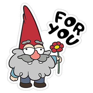 clip art royalty free stock Gnomes from viber sticker. Gnome clipart gravity falls