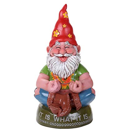 graphic library stock Gnome clipart hippie. Pacific giftware meditating chant