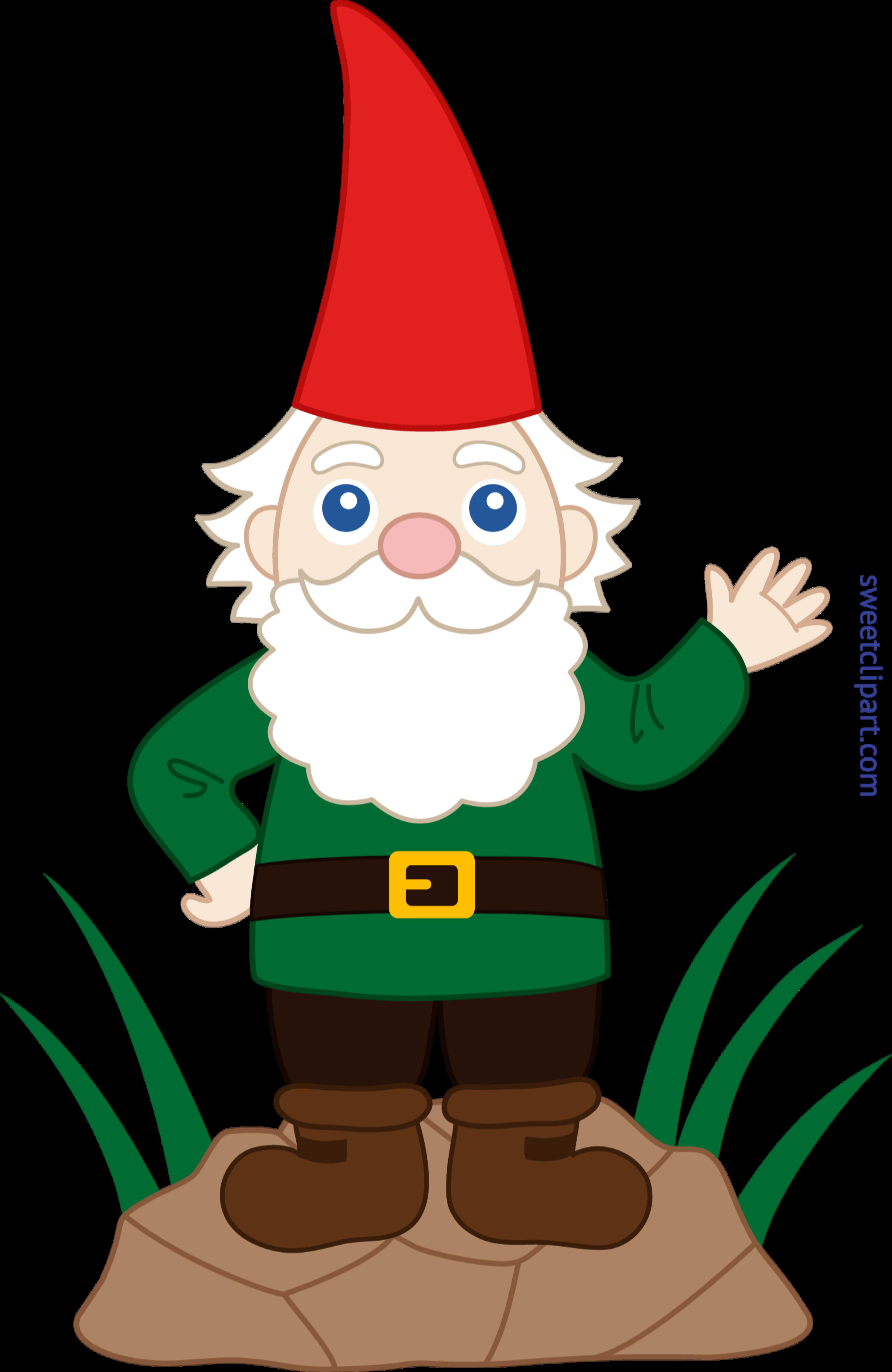 jpg freeuse Garden clip art sweet. Gnome clipart line
