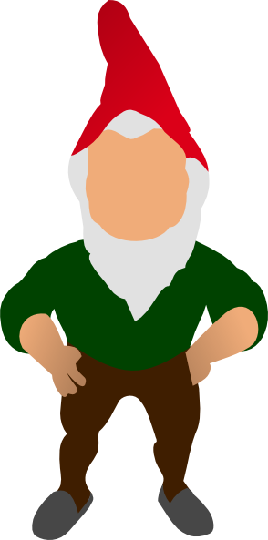 banner free stock Gnome clipart line. Mean