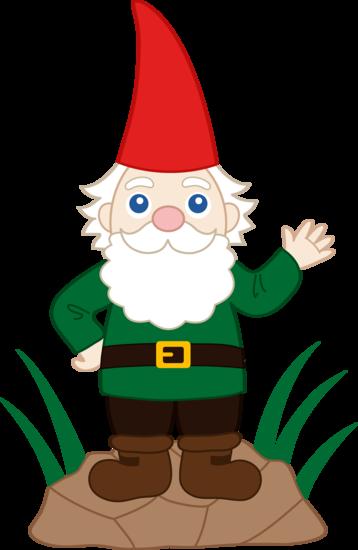 banner black and white library Garden clip art pinterest. Gnome clipart seven dwarves