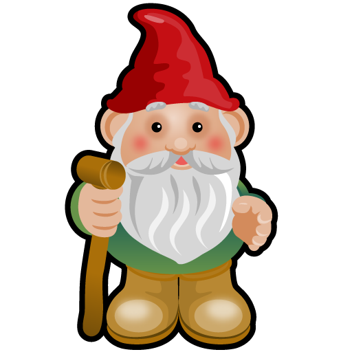 clip art black and white Free png x pixels. Gnome clipart simple garden