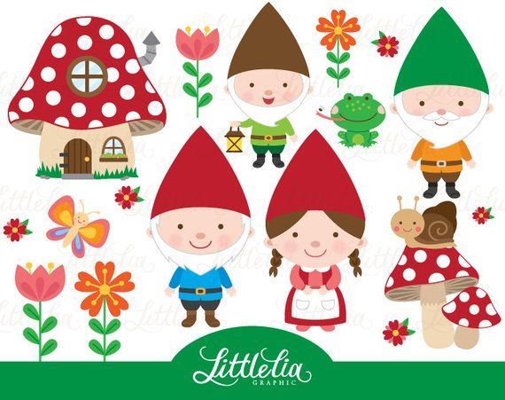 banner library Clip art . Gnome clipart woodland mushroom
