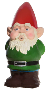 clip library stock NORMAN THE DOOR GREETER GNOME