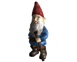 banner transparent stock Intact garden gnome