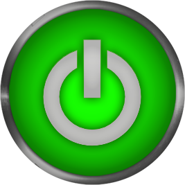 svg library library Free gifs power green. Go clipart button