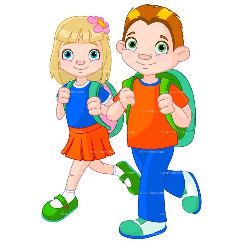 free Free going to download. School kids clipart