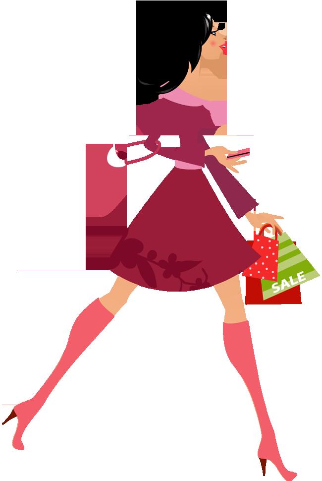 banner Shopping bag pretty free. Go clipart girl
