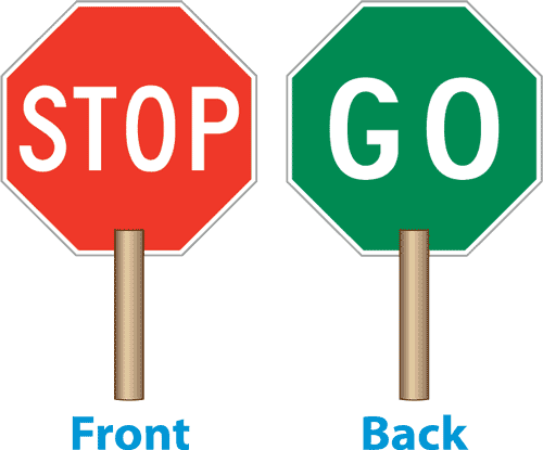 picture library  sided stop panda. Go clipart traffic