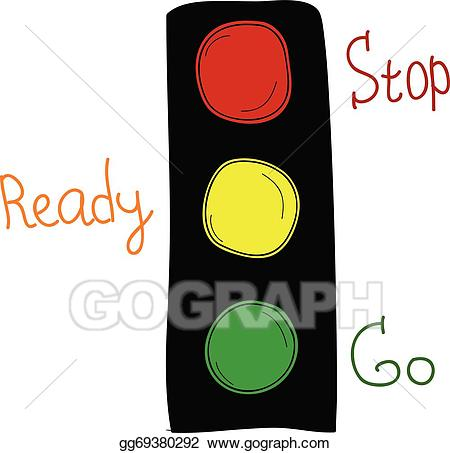picture freeuse library Eps illustration cartoon lights. Go clipart traffic