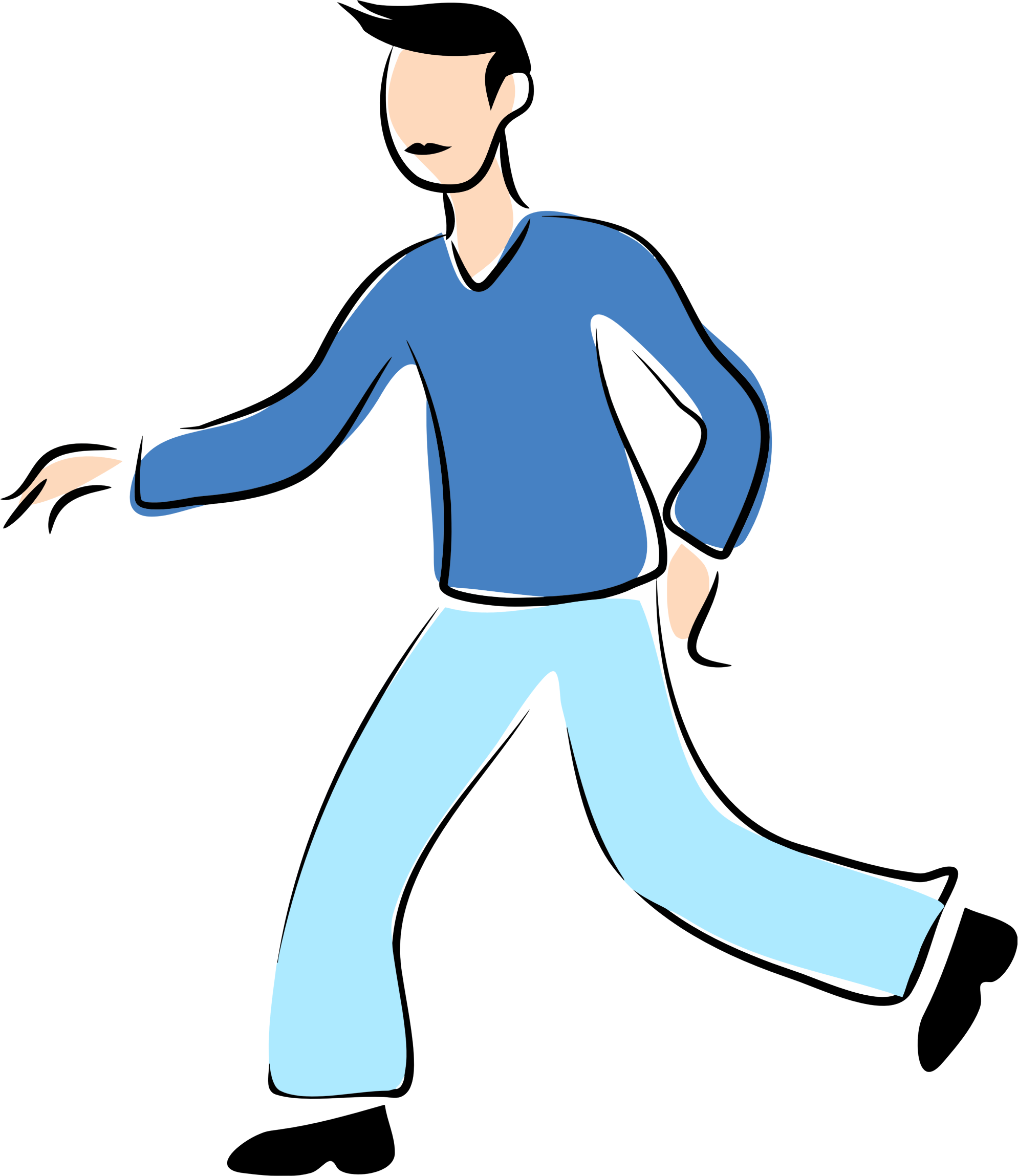 png library download Man walking clipart.  collection of high