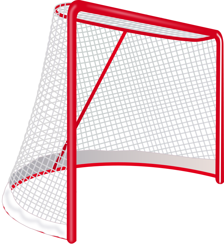 free Hockey sports theme teaching. Goal clipart