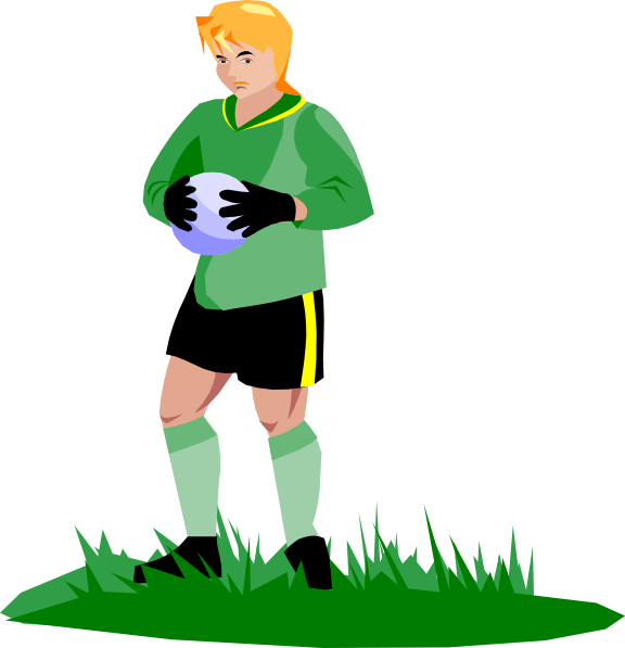 png black and white stock Soccer goalie clipart. Clip art at clker