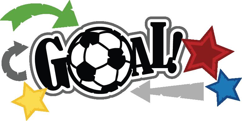 vector library Svg scrapbook title file. Goal clipart soccer ball goal