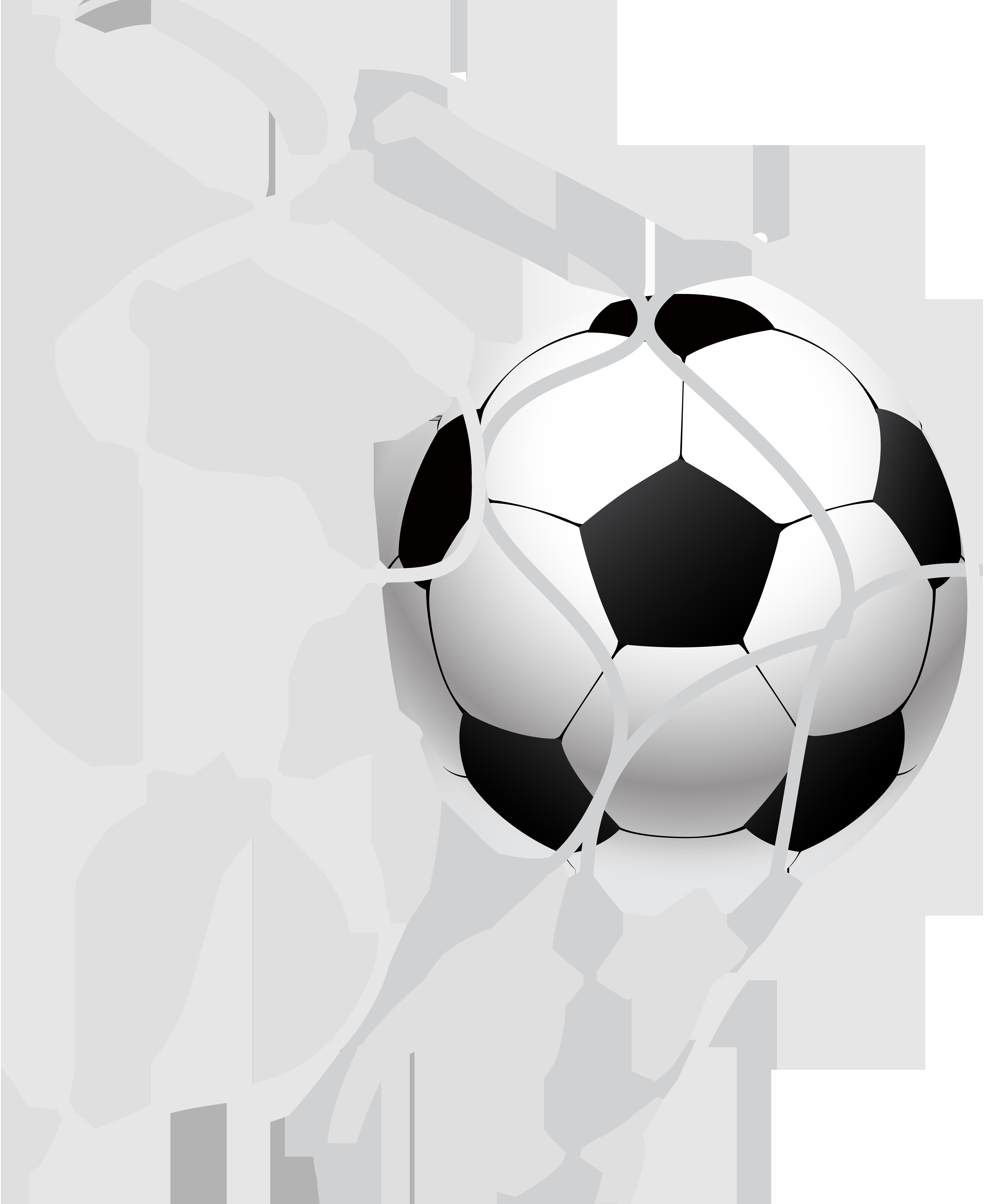 banner transparent download In a net png. Goal clipart soccer ball goal