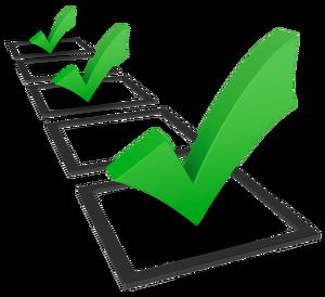 svg freeuse Goals clipart progress. Check looking through a