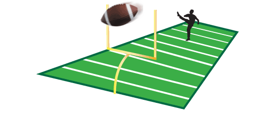 picture royalty free stock Football field goal kick. Goals clipart step