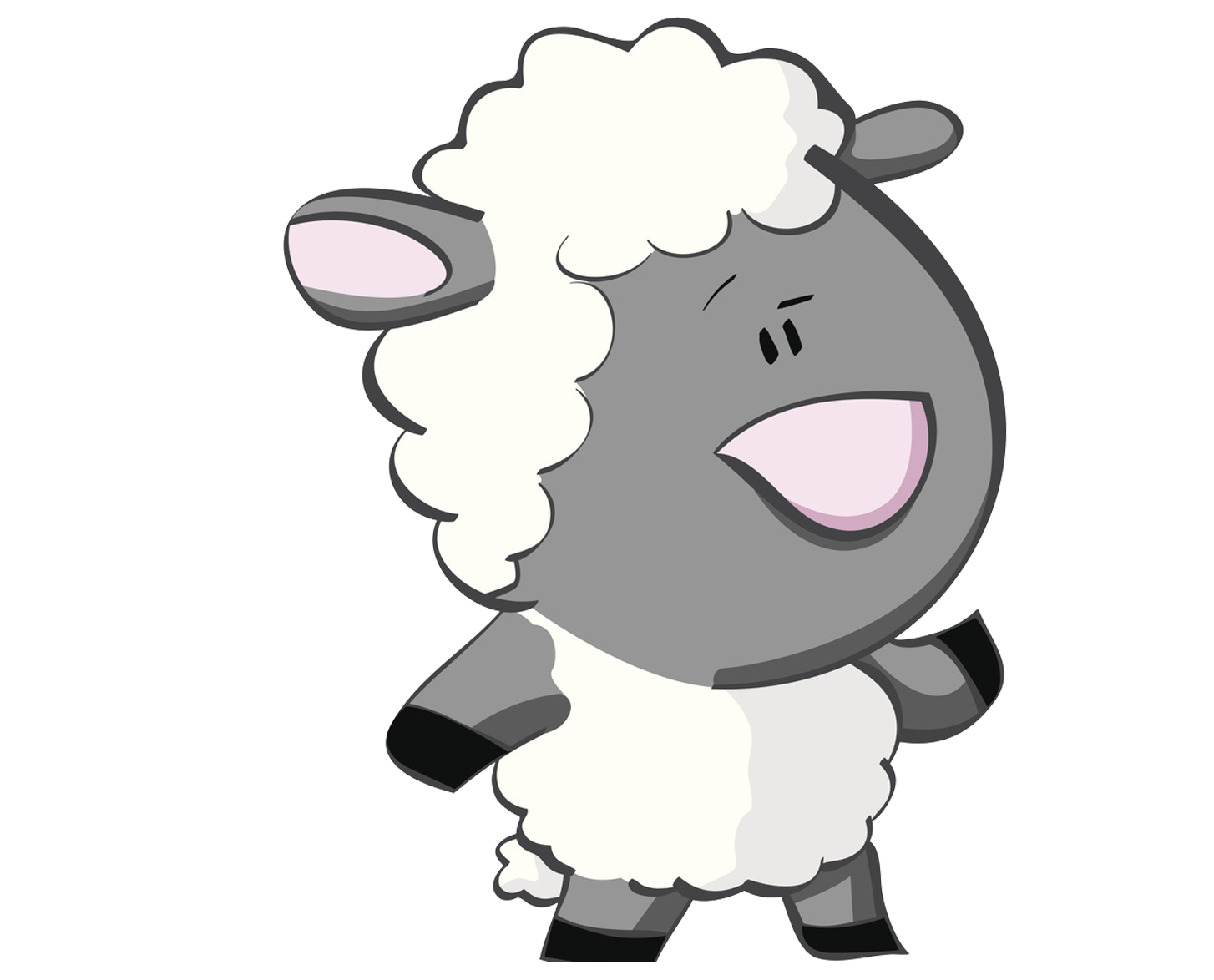 clip art transparent download Goat black and white clipart. Sheep cartoon gray puzzled