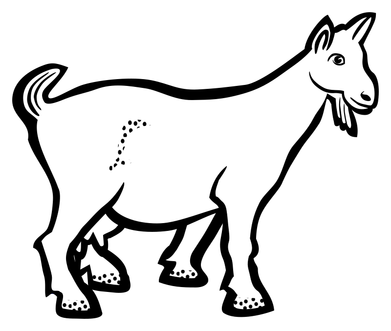 clipart royalty free download Goat black and white clipart. Lineart medium image png