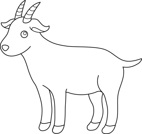 picture transparent download Goat clipart. Black and white