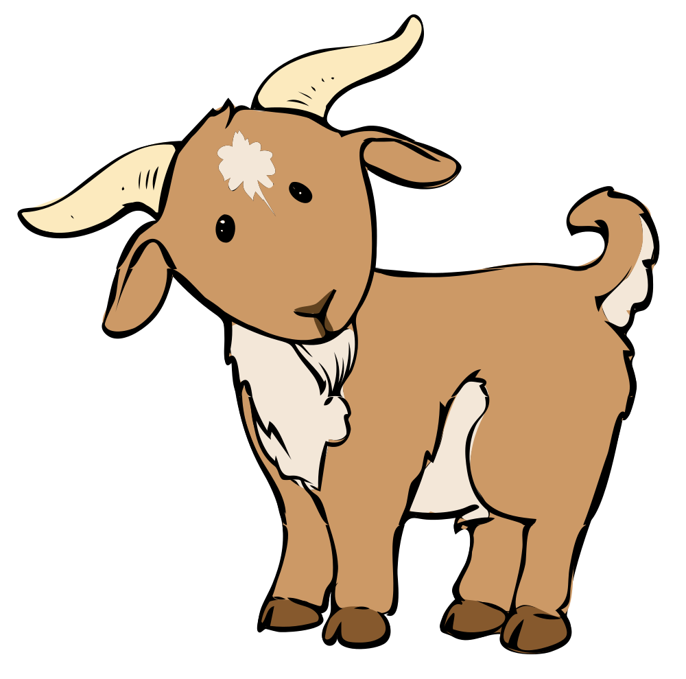 png black and white library  collection of free. Beard clipart goat.