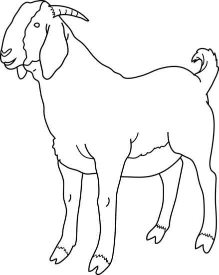 jpg library Goat clipart black and white.