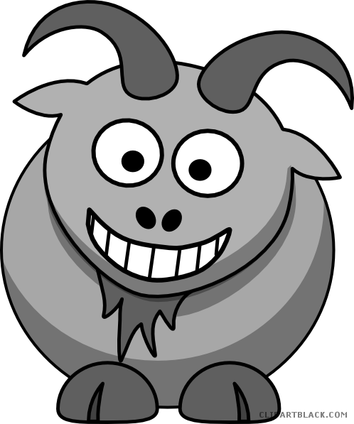 jpg free Page of clipartblack com. Goat clipart gray