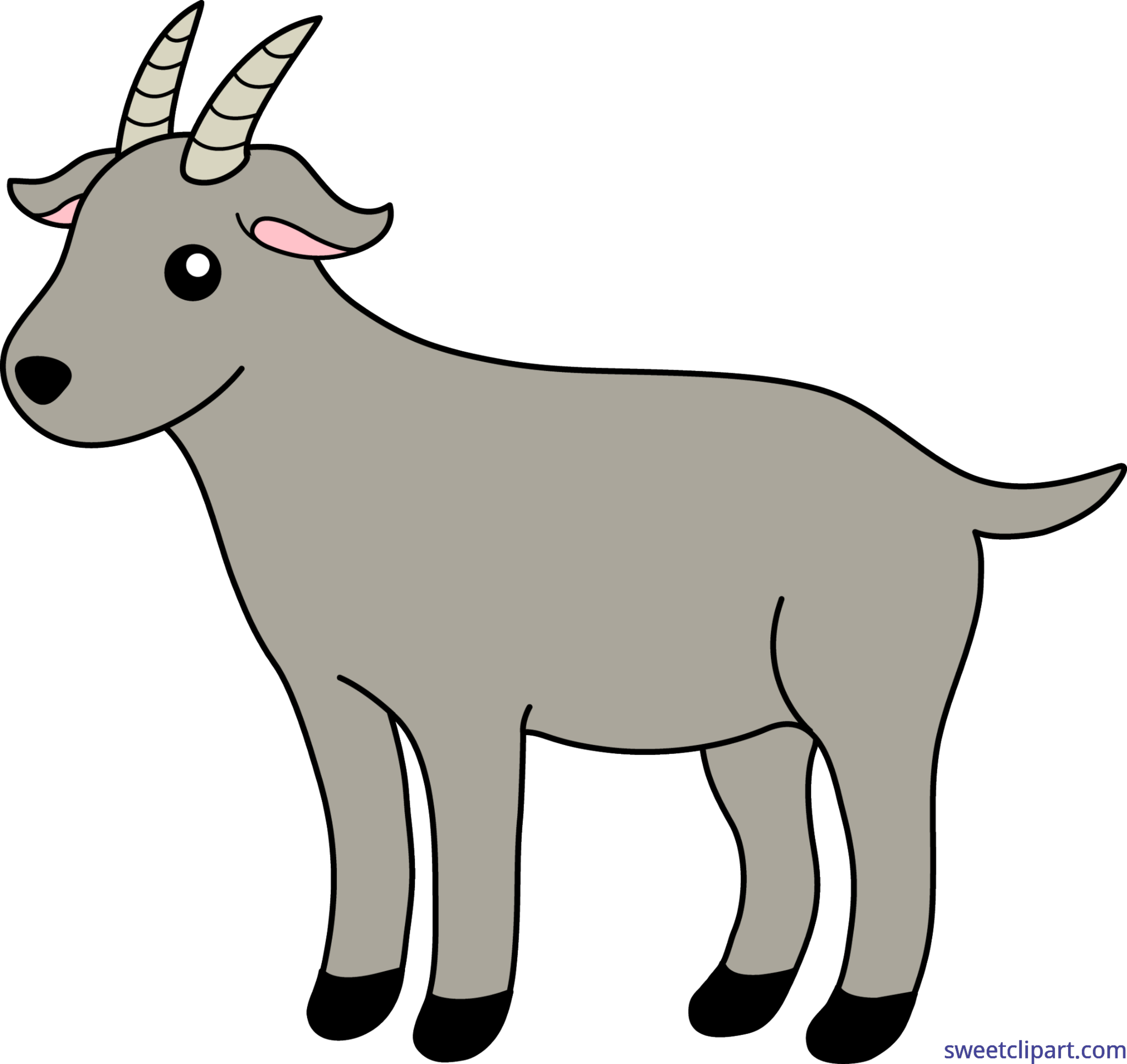 clipart freeuse library Clip art sweet. Goat clipart mother goat