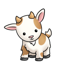 clip royalty free download Goat clipart simple.  collection of easy