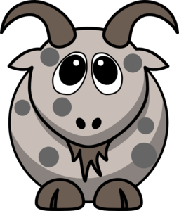 clipart royalty free stock Goat clipart toon. Gray free on dumielauxepices